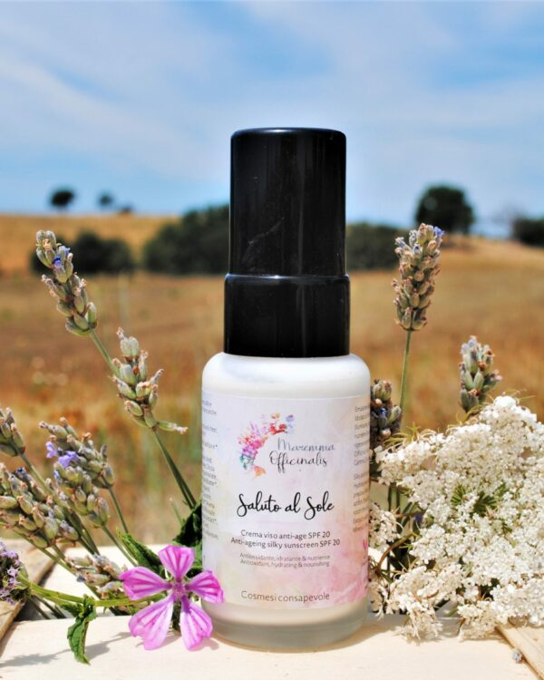 Saluto al Sole- Crema viso fluida anti-age SPF 20
